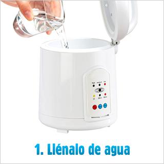 1. Llénalo de agua