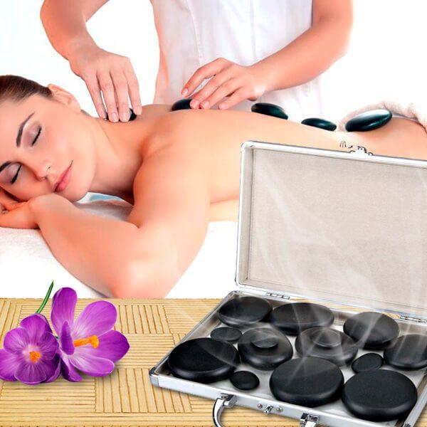 Maletín calentador de piedras calientes profesional para terapias a domicilio