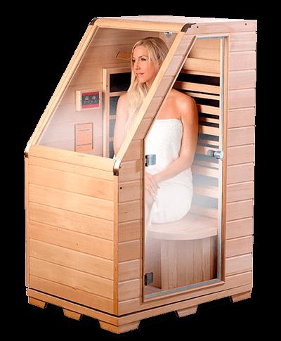 Sauna de infrarrojos de madera