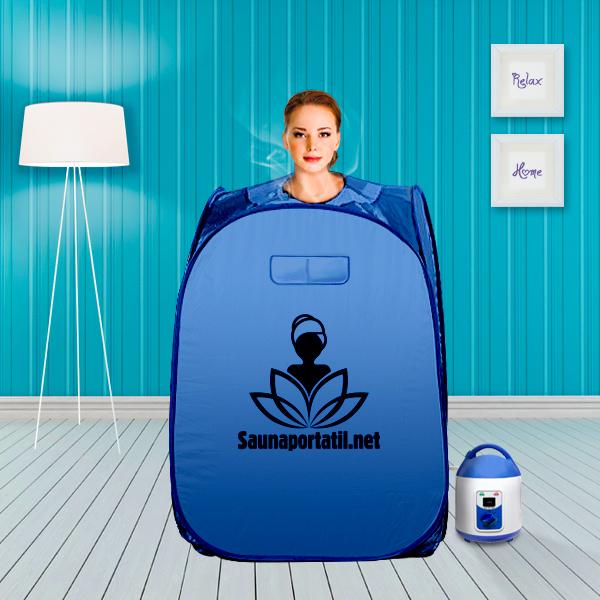Sauna portátil a vapor 1050W - azul