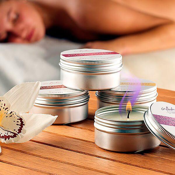 Velas aromáticas 3 en 1 que se convierten en aceite para masaje